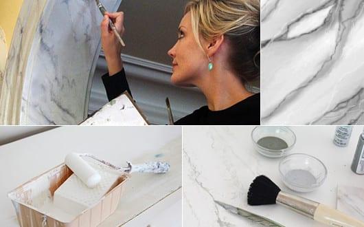interessante wand streichen ideen und techniken f r dekorative marmor w nde freshouse. Black Bedroom Furniture Sets. Home Design Ideas