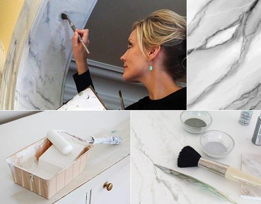 kreative wandgestaltung mit marmorieren-streichtechnik