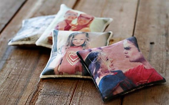 selbstgemachte geschenke mit fotoabdruck als idee für DIY-Weihnachtsgeschenke