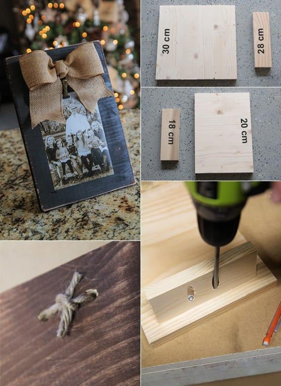 selbstgemachte geschenke und coole geschenkideen mit DIY-freistehenden fotorahmen