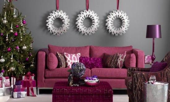 moderne dekoideen weihnachten in lila und silber f r sch ne und frohe weihnachten freshouse. Black Bedroom Furniture Sets. Home Design Ideas