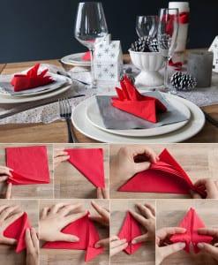 papierservieten falten coole ideen zum falten von