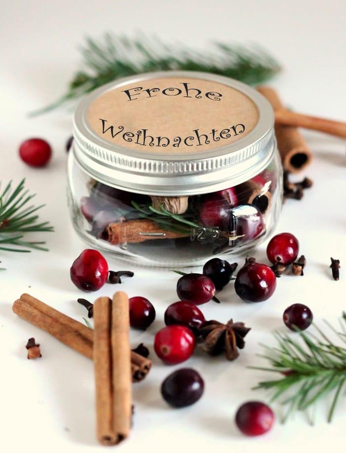 weihnachtsgeschenke selber machen im gefäß als coole DIY-weihnachtsgeschenke