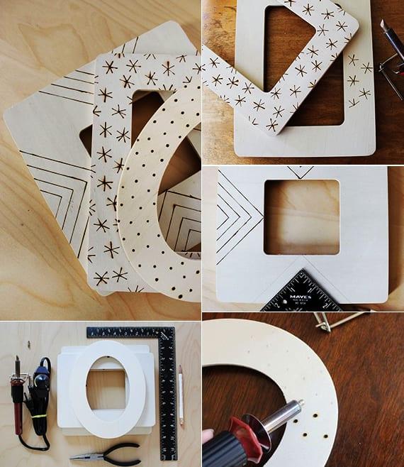 DIY-Bilderrahmen aus Holz als geschenkidee und weihnachtgeschenke selber zu machen