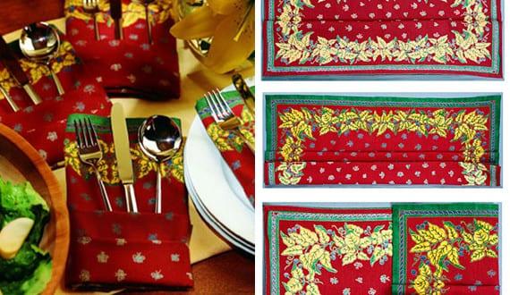 servietten falten als tasche serviette f r festliche tischdeko mit roten servietten freshouse. Black Bedroom Furniture Sets. Home Design Ideas