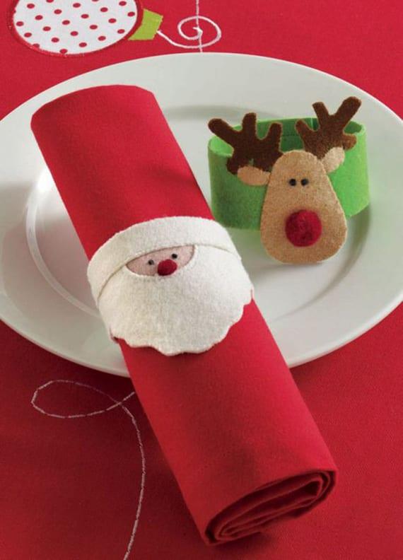 coole idee zum servietten falten und rollen als weihnachtliche tischdekoration