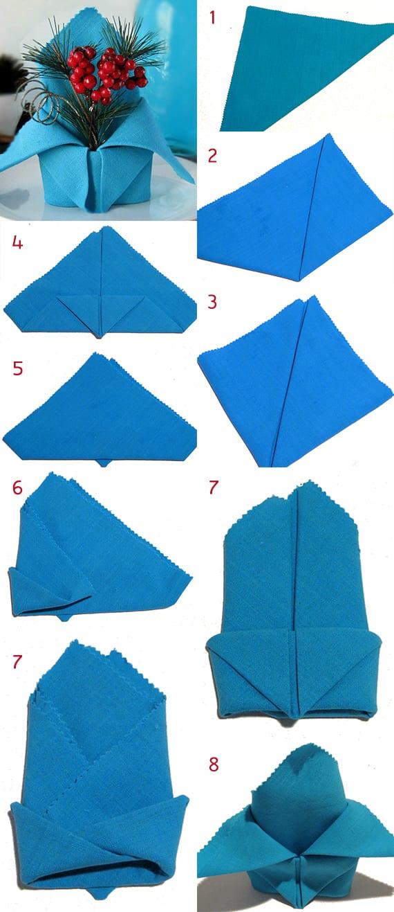 serviettentechnik zum falten von krone-servietten