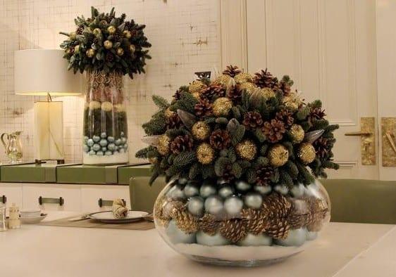 dekoideen für tischdeko weihnachten mit zapfen