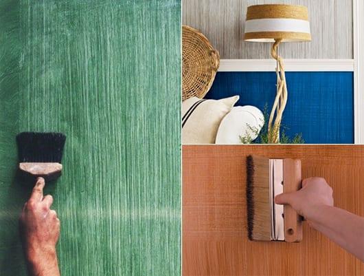 coole wand streichtechniken für kreative wandgestaltung mit farbe und textur