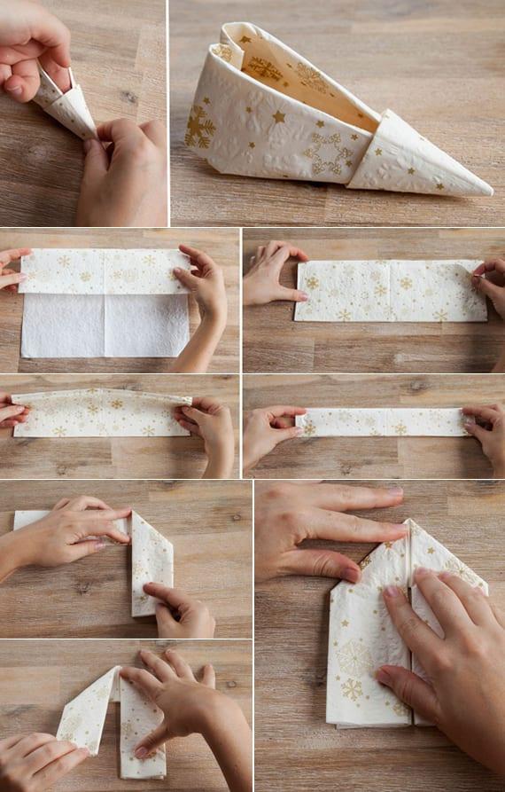 serviettentechnik für elefenshuh-papierservietten als coolde tischdeko idee