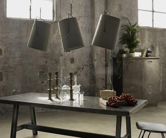 moderne innenleuchten im industrial style für moderne küchengestaltung und esszimmer gestaltung mit esstisch metall