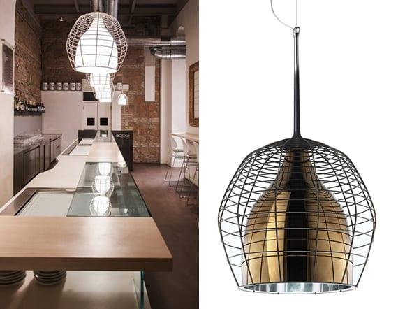 Wann-wird-eine-Leuchte-zum-Designerstück_Designer-Pendellampe-mit-Draht-Lampenschirm-für-lichtgestaltung-und-einrichtung-moderner-küchen