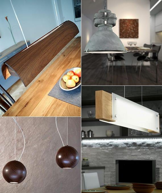 Holz-pendellampen als moderne esstischleuchten