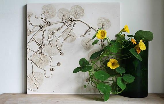 Basteln ideen mit gips originelle geschenkidee und diy deko freshouse - Originelle wandgestaltung ...