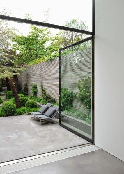 estrich als bodenbelag für terrassen und moderne terrassengestaltung