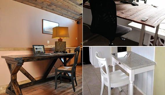 holz schreibtische selber bauen mit anleitung freshouse. Black Bedroom Furniture Sets. Home Design Ideas