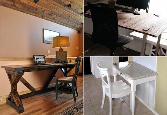 GroBartig Wie Baue Ich Schreibtisch Aus Holz_3 Ideen Zum Tusch Selber Bauen