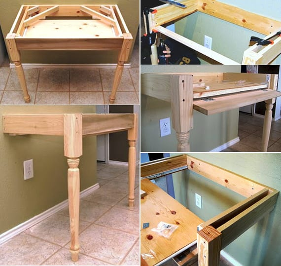Favorit Ausziehbarer Schreibtisch Selber Bauen WF38