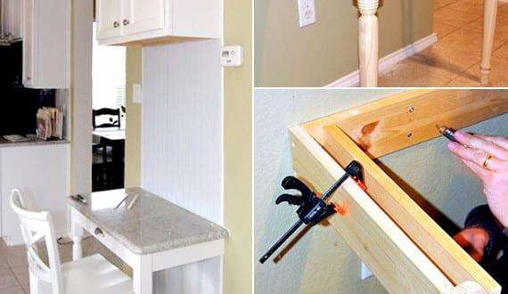 kleiner wei er schreibtisch selber bauen f r kleinen. Black Bedroom Furniture Sets. Home Design Ideas