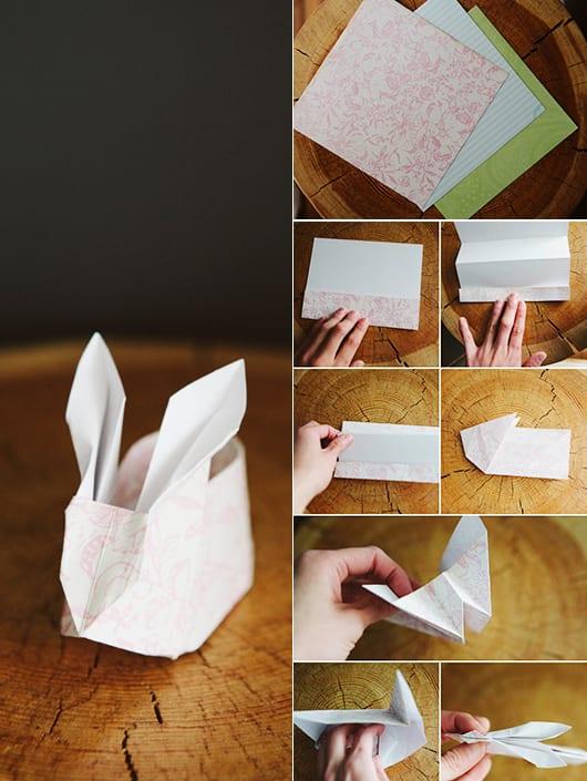 basteln ostern_coole bastelideen für origami-osterhasen als kreative ostergeschenke
