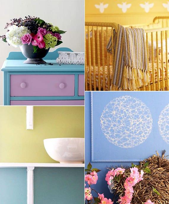 farbige wände streichen und alte holzmöbel renovieren durch streichen_coole ideen für farbgestaltung und wandgestaltung