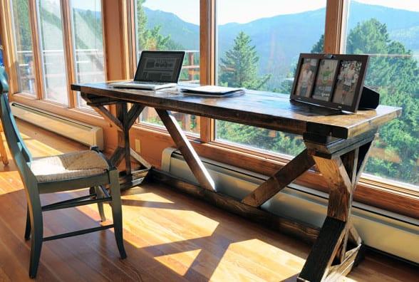 Bevorzugt Schreibtisch selber bauen - 3 Ideen mit Anleitung - fresHouse DD48