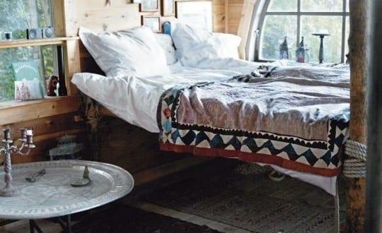 schlafzimmer ideen im boho stil_kleine schlafzimmer rustikal gestalten ...