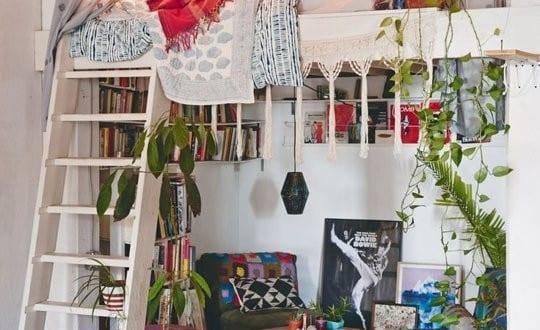 Schlafzimmer Ideen Im Boho Stil Kleine Wohnzimmer Mit Hochbett Einrichten