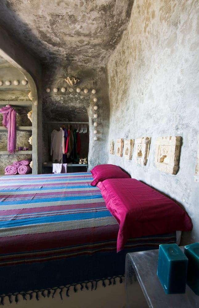 schöner wohnen schlafzimmer ideen für schlafzimmer mit bad und ausgemauerten wandregalen und wandnische
