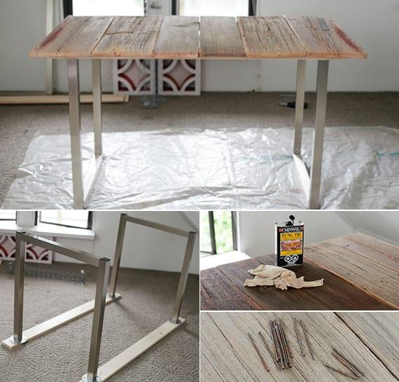 tisch selber bauen mit anleitung_ideen für diy Holz-Schreibtische