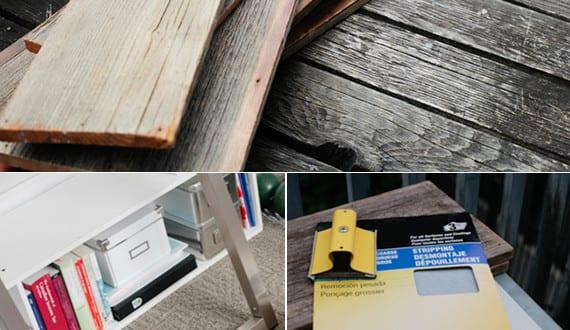 schreibtisch selber bauen mit tischplatte aus brettern und tischgestell aus metall freshouse. Black Bedroom Furniture Sets. Home Design Ideas