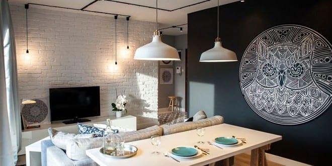 schwarze w nde f r moderne farbgestaltung kleiner wohn esszimmer freshouse. Black Bedroom Furniture Sets. Home Design Ideas