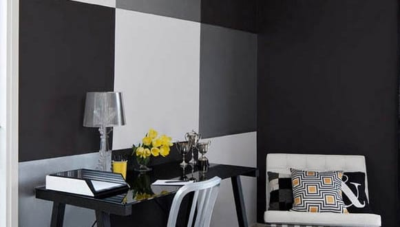 schwarze w nde f r moderne raum und farbgestaltung im wohnzimmer kreative wand streichen ideen. Black Bedroom Furniture Sets. Home Design Ideas