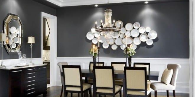 esszimmer design mit bunter wandgestaltung und einem extravagantem ... - Wandgestaltung Essbereich