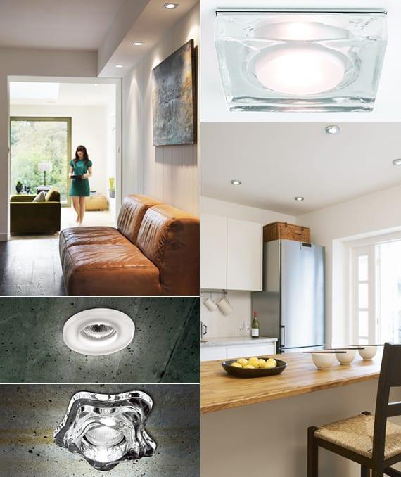 lichtkonzept für licht und raum mit modernen deckeneinbauleuchten