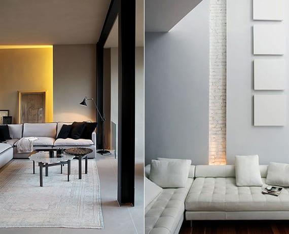 beleuchtungsideen mit LED einbauleuchten und das richtige lichtkonzept für indirekte beleuchtung im wohnzimmer