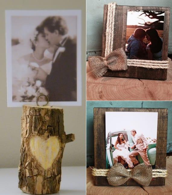basteln mit naturmaterialien zum valentinstag_elbstgemachte geschenke mit Fotos und Holz