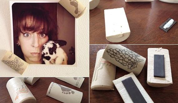 basteln mit korken kreative und einfache bastelideen f r kork magneten freshouse. Black Bedroom Furniture Sets. Home Design Ideas