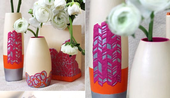 coole ideen f r diy vase vasen selbst gestalten mit 3d farben freshouse. Black Bedroom Furniture Sets. Home Design Ideas