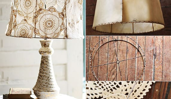 deko basteln mit spitze coole bastelidee f r die lampe mit lampenschirm aus spitzendeckchen. Black Bedroom Furniture Sets. Home Design Ideas