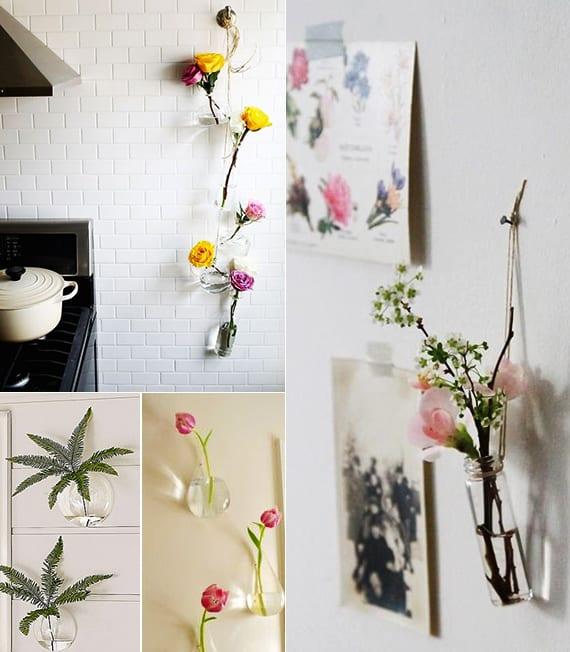 vasen selber machen und wand dekorieren