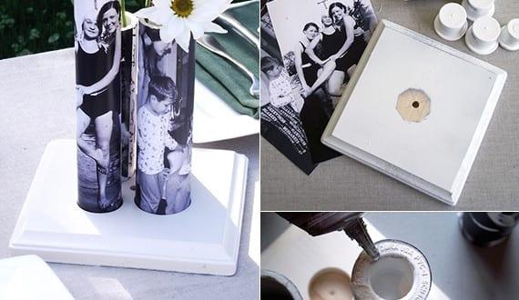diy vase mit fotos coole bastelidee f r selbstgemachte geschenke freshouse. Black Bedroom Furniture Sets. Home Design Ideas