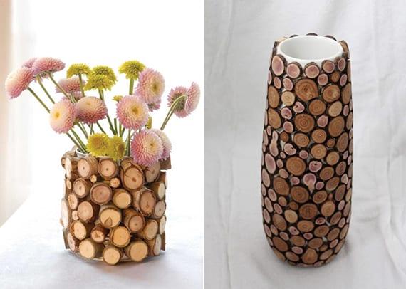 kreative bastelideen für diy vase als geschenkidee für frauen