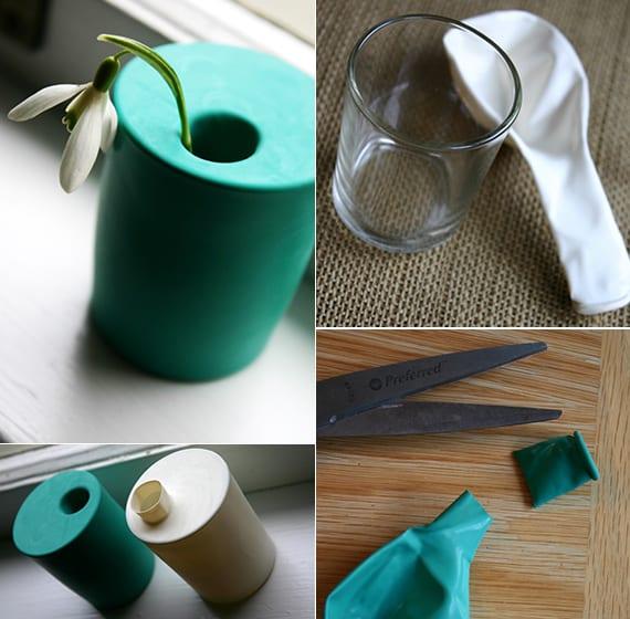 kreatives basteln zu Frühling_kleine vasen selber machen