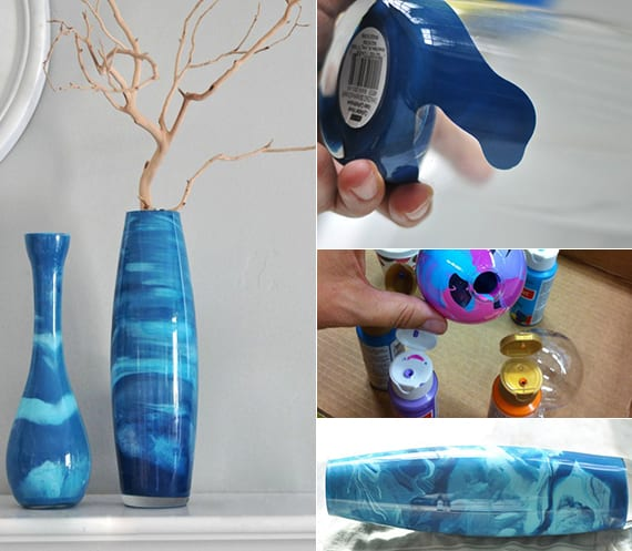 coole vasen selbst gestalten mit farbe_coole bastelideen für diy vase als selbstgebastelte geschenke für frauen