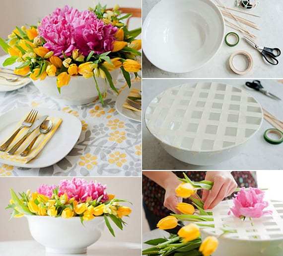 tischdeko mit diy vase_ frühlingsdeko basteln