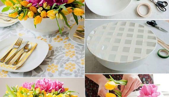 Diy vase coole bastelidee f r tischdeko und fr hlingsdeko basteln mit fr hlingsblumen freshouse - Coole tischdeko ...