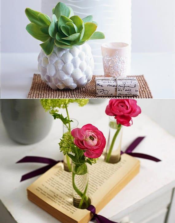 einfache bastelideen für diy vase als selbstgemachtes geschenk für frauen und zum muttertag