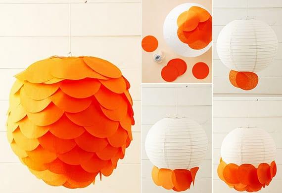 einfache bastelideen für DIY Lampe und diy Deko