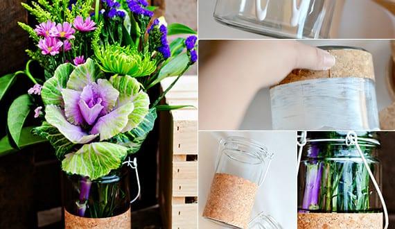 fr hlingsdeko basteln kreative dekoideen mit diy vase aus. Black Bedroom Furniture Sets. Home Design Ideas